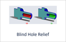 Blind Hole Relief in machining design guidelines