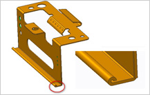 Curl Feature design Guidelines in sheet metal