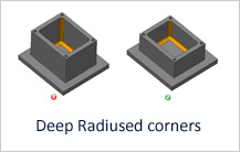 Deep Radiused Corners in Milling design