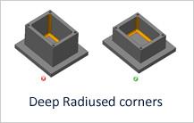 Deep Radiused Corners in Milling design