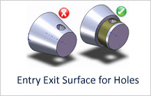 Entry Exit Surface for Holes