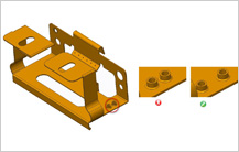 Minimum Distance Between Extruded Holes guidelines in sheet metal