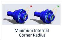 Minimum Internal Corner Radius for Turning