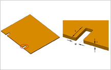 Notch Feature Design Guidelines in sheetmetal