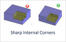 Sharp Internal Corners design guideline