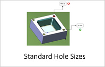 Standard Hole Sizes in drilling