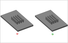 Spacing between two Parallel Ribs guidelines in Injection Molding Design