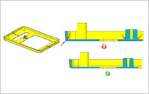Sharp Corners design guidelines in injection molding Design