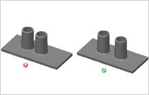 Spacing between Bosses design guidelines in Injection Molding