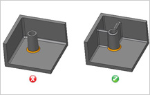 Standalone Boss design guidelines in Injection Molding
