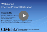 Effective Product Realization Webinar Recording CIMdata