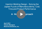 Injection Molding Design Webinar Recording