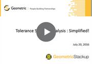 Tolerance Stackup Analysis Simplified Webinar