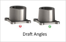 draft angle design guidelines in casting