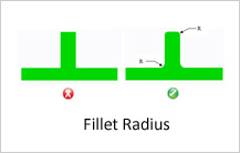 fillet radius design guidelines in casting
