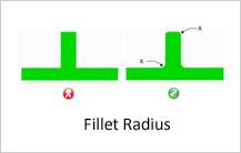 fillet radius design guidelines in casting