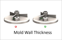 mold wall thickness design guidelines in casting