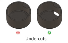 undercut design guidelines in casting