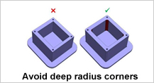 Design for Machining -Deep_Radiused_Corners