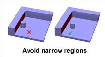 Design for Narrow Regions In Pockets