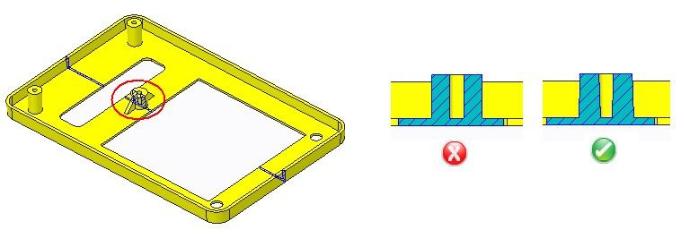 Minimum Draft Angle in injection molded plastic parts