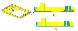 Sharp Corners in Injection Molding