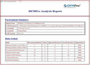 DFMPro Analyst Report