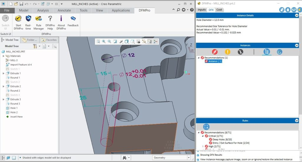 DFMPro CAD system integration