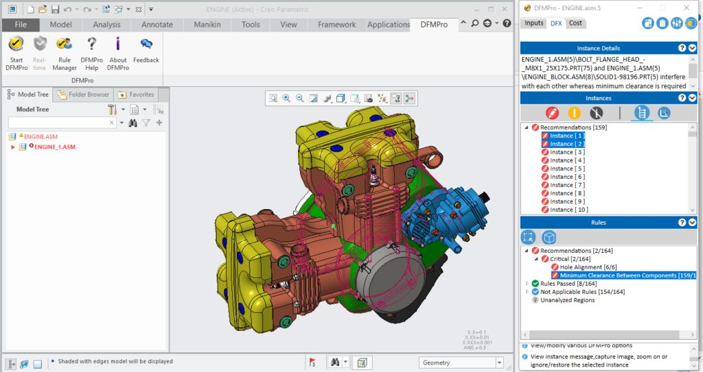 DFMPro easily integrates into familiar CAD environment